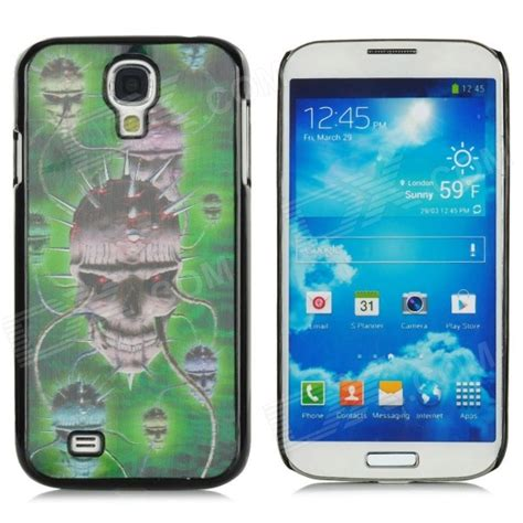 3d Plastic For Smartphone Samsung Galaxy S4 41 protective 3d skull pattern plastic back for samsung i9500 galaxy s4 black green