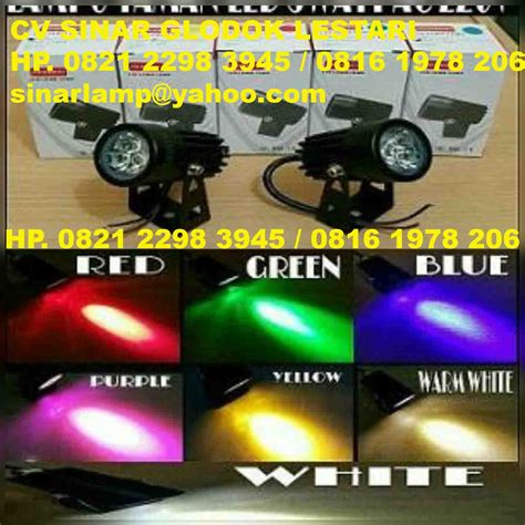 Lu Tembak Motor Warna Kuning lu sorot led mini 3 watt