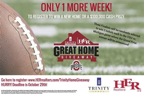 Great Home Giveaway - the great home giveaway awarded 250 000 during a ohio state football game american