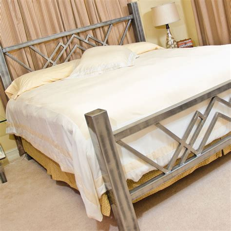 Handmade Metal Beds - w bed steel bed made in the usa boltz steel furniture