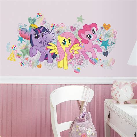 my little pony home decor roommates my little pony wall graphix peel and stick giant