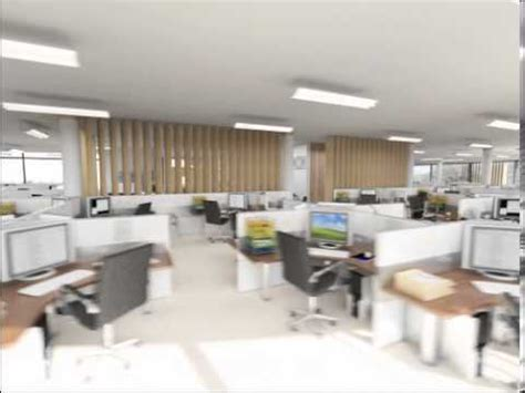 Cubicle Layout Ideas interior 3d animation of modern open plan office youtube