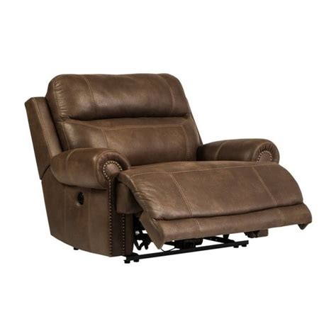 ashley leather recliners ashley austere faux leather power zero wall wide recliner