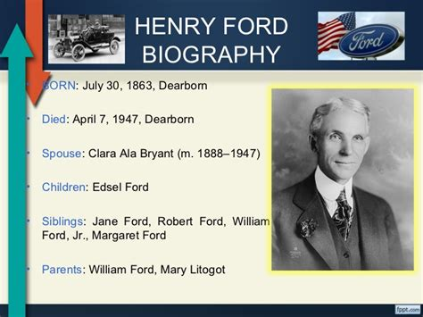 biography of henry ford image gallery henry ford birth