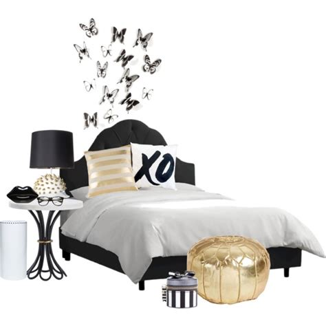 gold black and white bedroom black white and gold bedroom polyvore