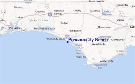 map usa panama panama city pr 233 visions de surf et surf report