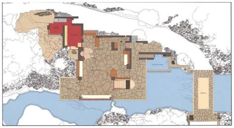 house plans with a view of the water house plan 2017 frank lloyd wright s masterpiece fallingwater