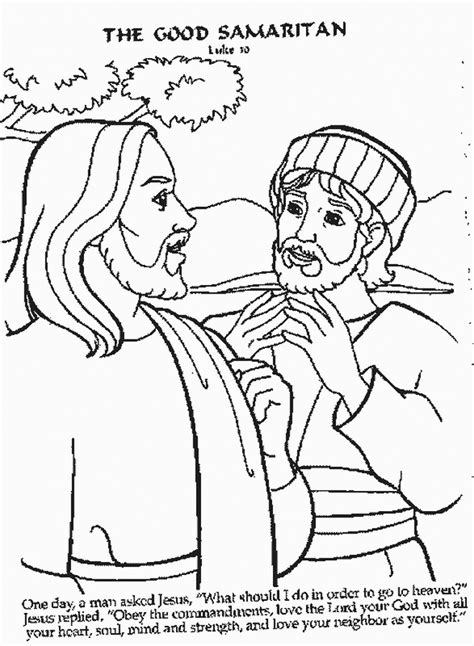 coloring pages for the samaritan samaritan coloring page coloring home