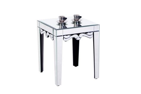small mirrored accent table small mirrored end table with bevelling view venetian