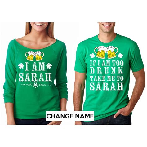 st patricks day shirts st s day customizable name green t shirts