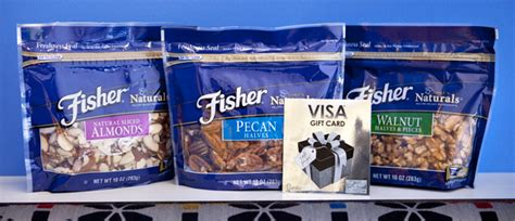 Fisher Nuts Giveaway - 75 visa gc fisher nuts prize pack giveaway