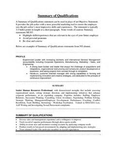 examples of resume summary statement - Example Of Resume Summary Statements