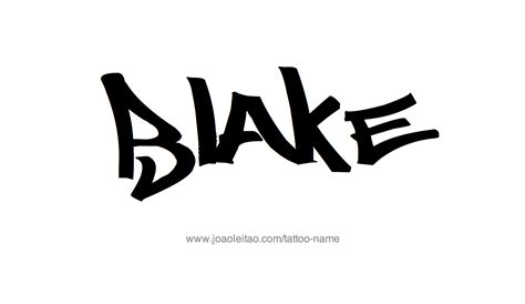 blake tattoo name designs designs