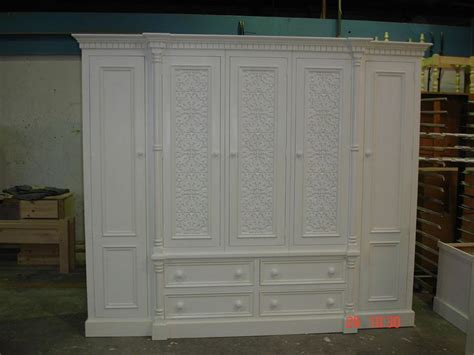 White And Pine Wardrobe by Ivory White Painted Large 5 Door Jali Style Solid Pine Wardrobe New All Hung Up