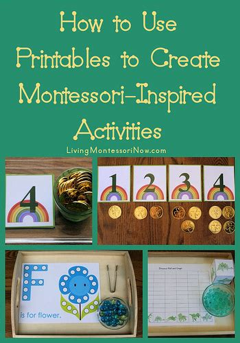 printable montessori activities montessori monday how to use printables to create