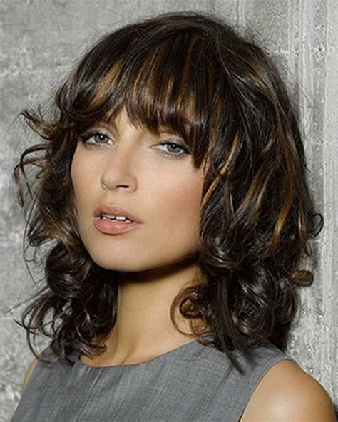 medium length hairstyles for wavy hair medium length layered curly hairstyles