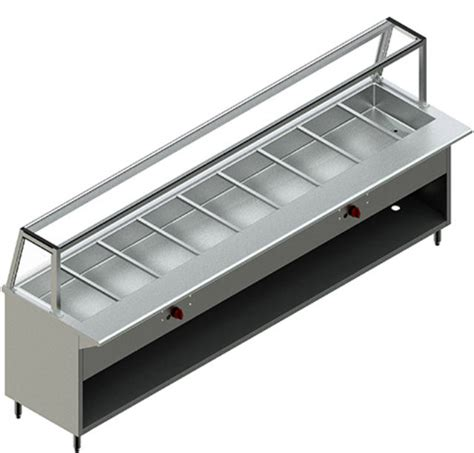 new restaurant stainless steel 8 steam table nat gas