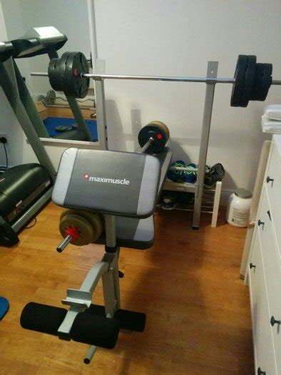 maximuscle bench maximuscle weights bench with weights for sale in milltown