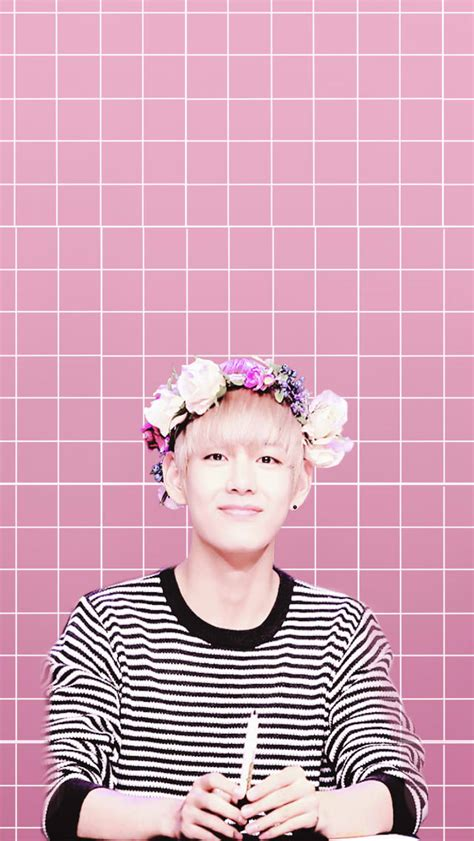 wallpaper flower crown taehyung bts flower crown wallpaper by xaiyaelyx on deviantart