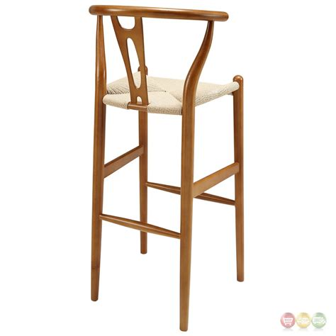 Solid Walnut Bar Stools by Amish Contemporary Solid Wood Bar Stool With Twined