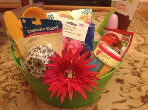 bridal shower gift basket prize ideas confetti cake batter cookies baking gift baskets