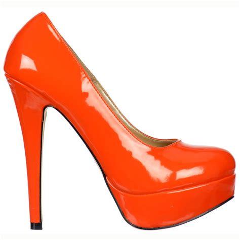 orange sandal heels shoekandi stiletto platform high heel shoes
