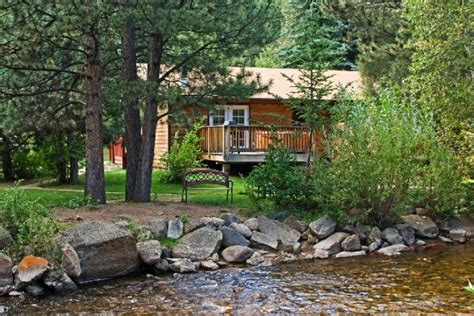 estes park cottages on the river streamside on fall river colorado