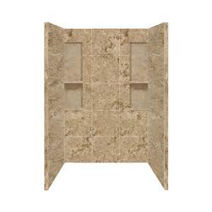 shop style selections sand mountain solid surface shower