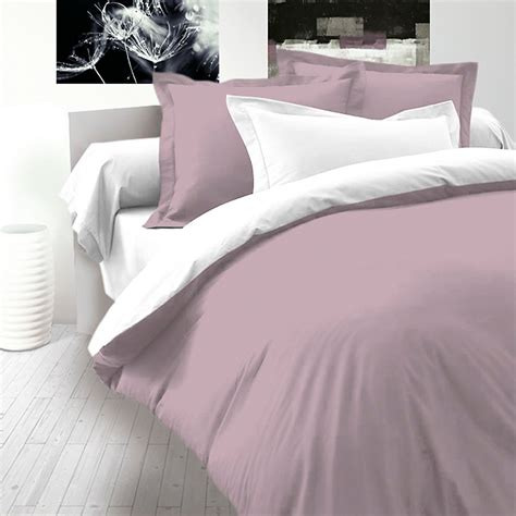 sateen bed linen ash pink white cotton sateen bed linen set reversible