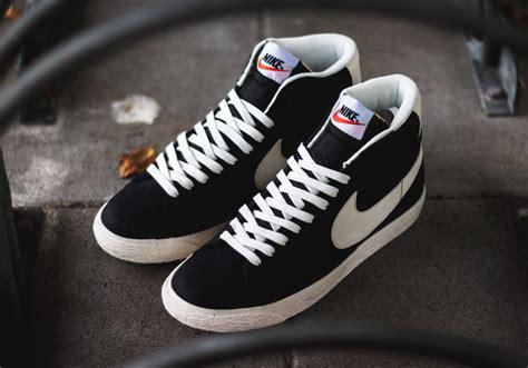 Nike Blazer Black Made In nike blazer mid premium vintage black white sbd