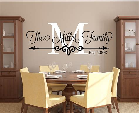 wall decal for room family name wall decal personalized family monogram living
