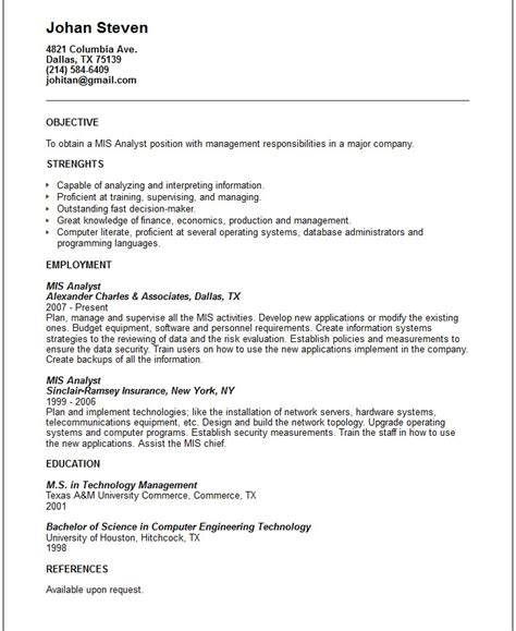 templates for business systems business systems analyst resume template resume builder