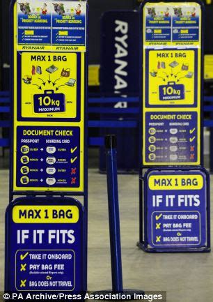 ryanair baggage size check gauge ryanair bonuses for catching you out with excess baggage