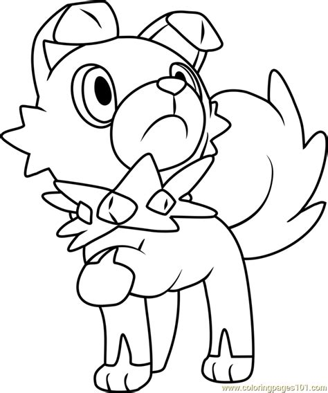 pokemon coloring pages joltik rockruff pokemon sun and moon coloring page free pok 233 mon