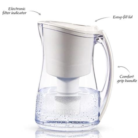 Pitcher Filter Vs Faucet Filter by Brita Marina Water Filter Pitcher White 8