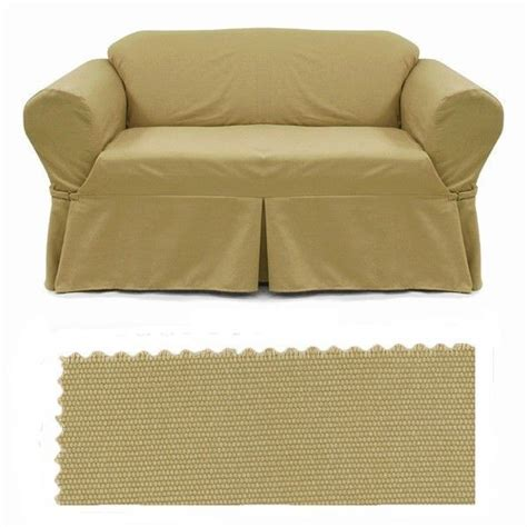 canvas sofa slipcover sofa slipcover brushed camel canvas sfs 31