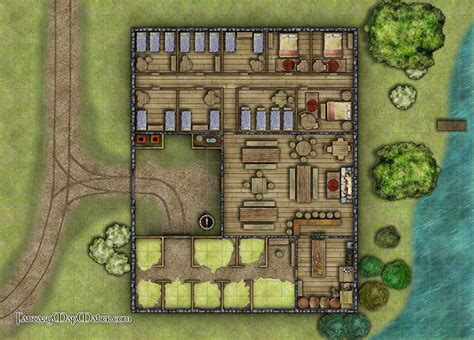 Virtual Floor Plan Maker by Midway Inn Battlemap Fantasy Map Maker