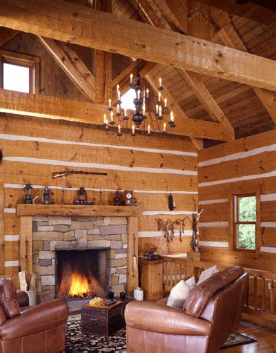 Lakeside Log Cabin With Walkout Basement   Cozy Homes Life