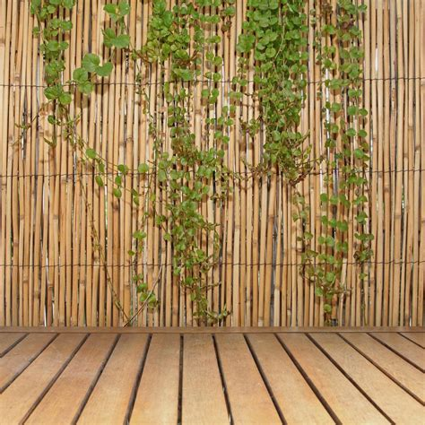 reed privacy screen fencing hxl bamboo backyard fence