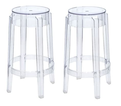 kartell style bar stools philippe starck style charles ghost bar stool set of 2
