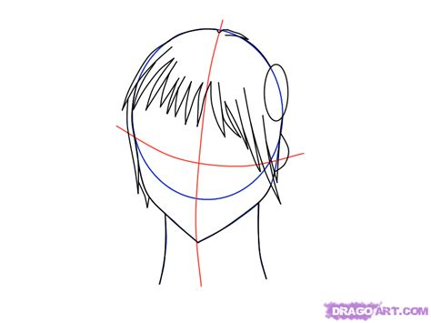 how to draw bangs how to draw bangs with a ponytail step by step anime