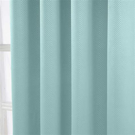 Blackout Chevron Curtains Herringbone Chevron Blackout Thermal Ready Made Curtains Pair Eyelet Style Ebay