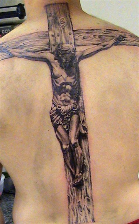 full back cross tattoos cross images designs