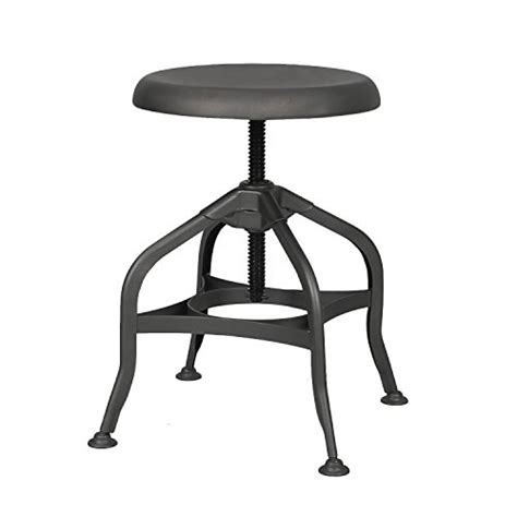 furniture steel swivel adjustable bar stool with round adeco industrial chic retro style swivel adjustable height