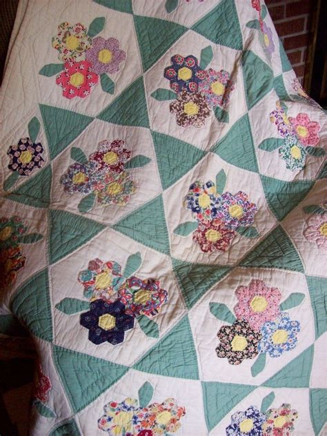 quilt pattern patio flower garden quilts pinterest