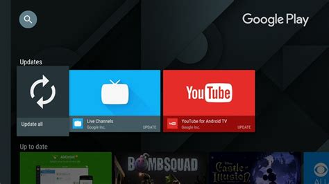 android tv update the version of the play store for android tv brings back the update all apps