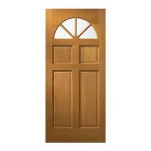 home depot exterior doors jeld wen 32 in x 80 in fan lite unfinished fir wood