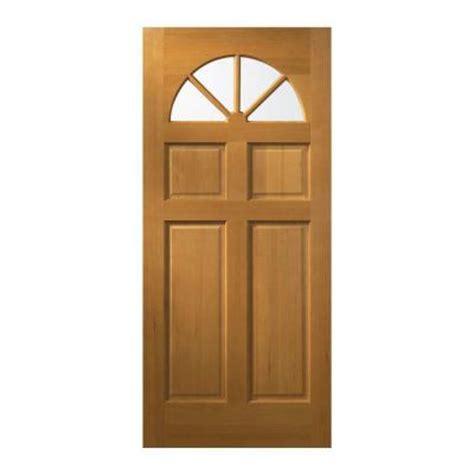 Fir Doors Exterior Jeld Wen 32 In X 80 In Fan Lite Unfinished Fir Wood Front Door Slab 5389 0 The Home Depot
