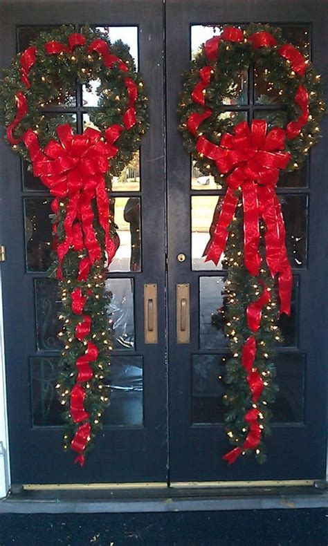 Beautiful Garlands And French Doors On Pinterest Beautiful Front Door Wreaths
