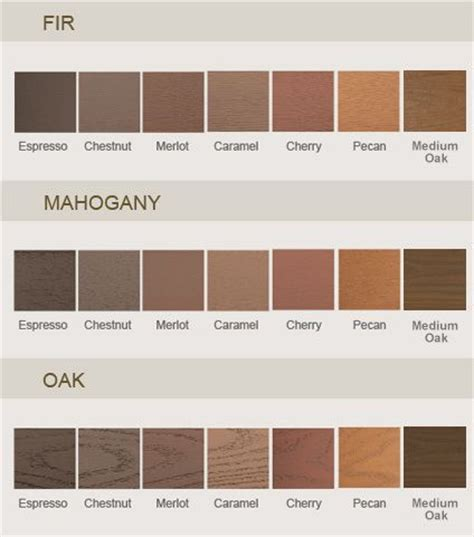 25 b 228 sta wood stain color chart id 233 erna p 229